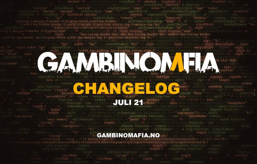Changelog - Juli 21