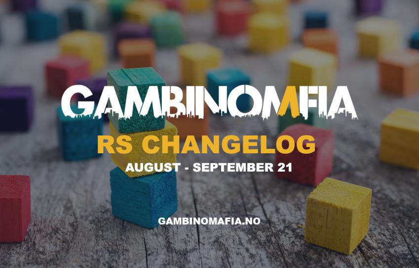 RS Changelog - August & September 21